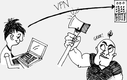 VPN cartoon
